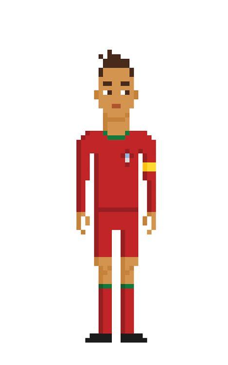 Cristiano Ronaldo In The Portuguese National Team Kit
