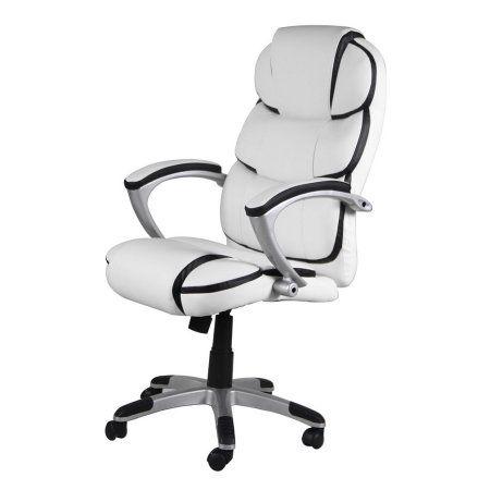 360 Degree Rotating Ergonomic Armchair High Back Pu Leather Office Chair White Office Chair Leather Office Chair Dining Chair Pads