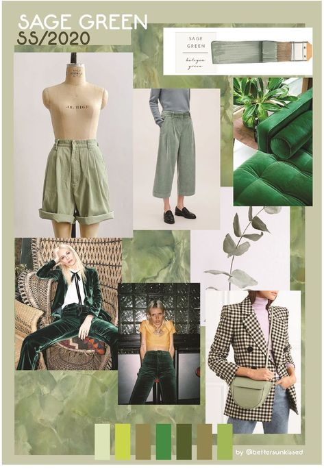 COLOR TREND FORECAST SS / 2020 - SPRING SUMMER 2020 SAGE GREEN  #2020SAGE #color #forecast #green #spring #SS #summer #trend