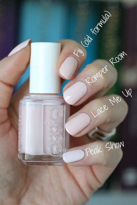 Essie Spring 2014 Hide & Go Chic Collection : Swatches & Comparisons nail polish colors Sally Hansen, Cute Nails, Pretty Nails, Hair And Nails, My Nails, Glitter Nails, Essie Nail Colors, Essie Pink Nail Polish, White Nail Polish