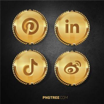 Luxury Golden Social Media Pack Set Social Social Media Media