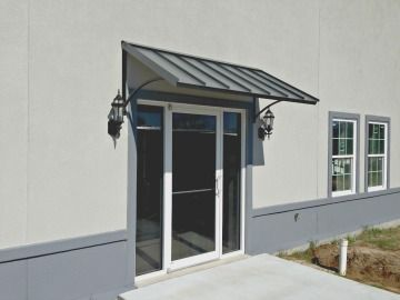 The Clay Metal Classic Commercial Door Awning In Broussard La Door Canopy Modern Custom Awnings Door Awnings