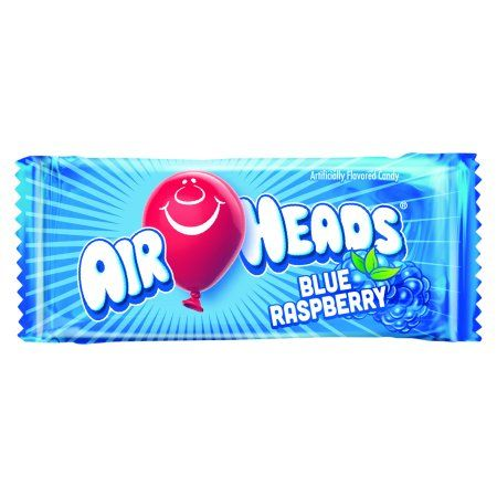 Airheads Candy Bulk Box Individually Wrapped Blue Raspberry Mini
