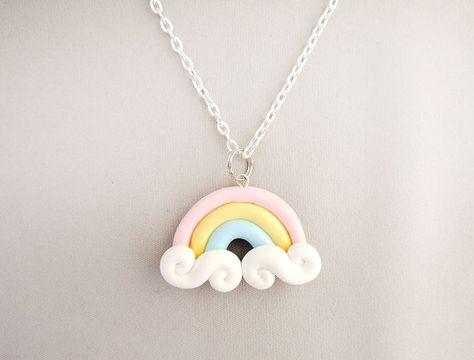 Fairy Kei Pastel Rainbow Necklace by cbexpress on Etsy, $12.00