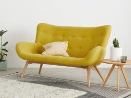 Doris 2 Seater Sofa Shetland Moss 2 Seater Sofa Seater Sofa Small Sofa