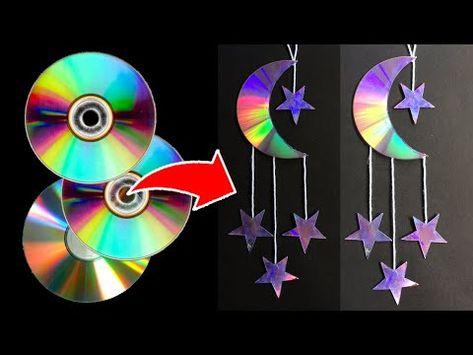 cd art diy - cd art & cd art projects & cd art diy & cd art aesthetic & cd art for kids & cd art painting & cd art wall & cd art projects old cds Old Cd Crafts, Diy Home Crafts, Arts And Crafts, Paper Crafts, Crafts With Cds, Hand Crafts, Cd Diy, Recycled Cds, Recycled Crafts