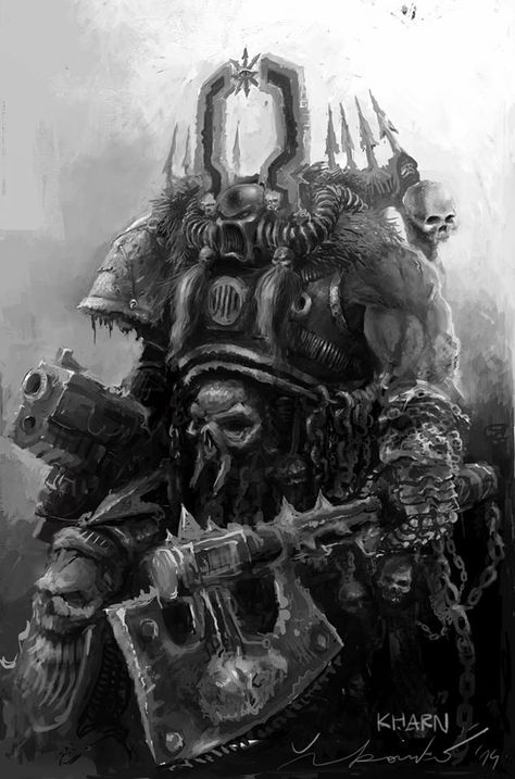 Warhammer 40000,warhammer40000, warhammer40k, warhammer 40k, ваха, сорокотысячник,фэндомы,kharn the betrayer,World Eaters,Chaos (Wh 40000),khorne,sketch