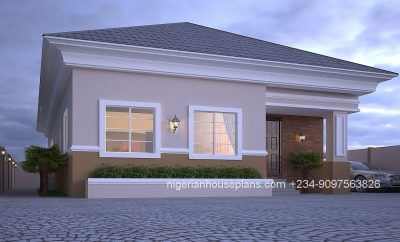 4 Bedroom Bungalow Rf 4007 Bungalow House Design Modern Bungalow House Plans Bungalow Design