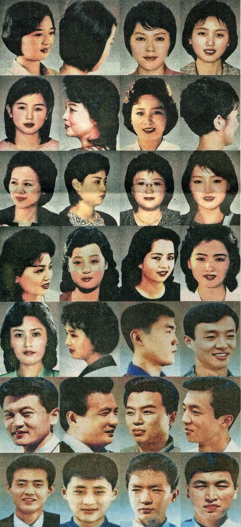 North Korea state approved hairstyles...this is plain out