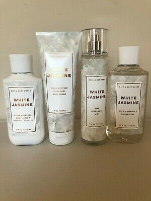 NEW Bath & Body Works WHITE JASMINE - Pick A soft blend of white jasmine & apple blossoms with a kiss of cedarwood. Bath N Body Works, Bath And Body Works Perfume, Body Mist, Body Lotions, Beauty Care, Body Care, Just In Case, At Least, Lush Products