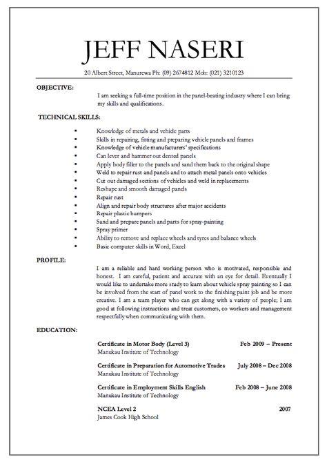 panel beater jobs resume - http\/\/resumesdesign\/panel-beater - ophthalmic technician resume