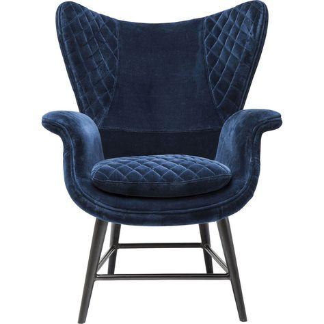 Sessel Tudor Blau Samt Moebel Liebe Com Sessel Ohrensessel Sessel Blau