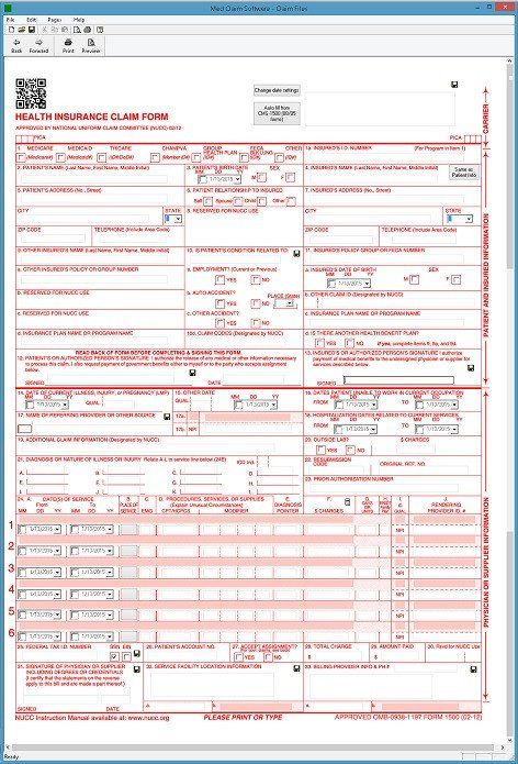 1500 Claim Form Free Cms 1500 Software Hcfa 1500 Software At 79