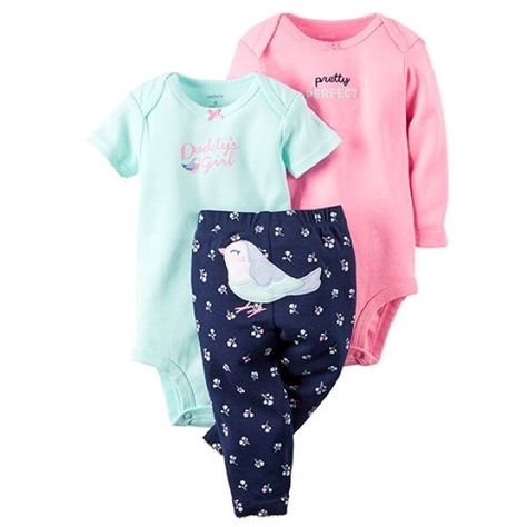 Carter's Baby Girls' 3 Piece Set - Bird - Newborn -- New and awesome product awaits you, Read it now : Baby clothes