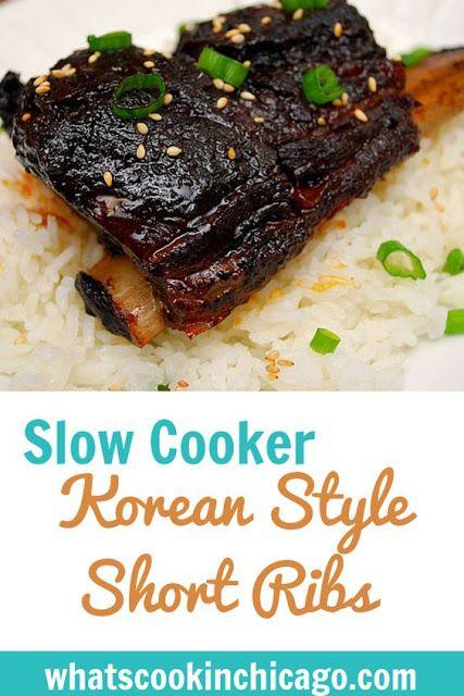 Korean Style Short Ribs Crockpot Short Rib Recipes Crockpot Recipes Beef Short Rib Recipes