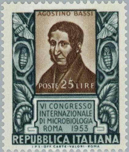Марка: Portrait of Agostino Bassi (Италия) (6° International Congress of  Microbiology in Rome) Mi:IT 899,Sn:IT 640,Yt:IT 663,Sg:IT 854,Sas:IT 72… (с  изображениями) | Италия