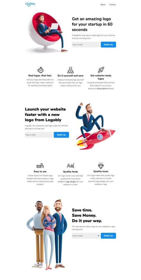 Logobly landing page design inspiration - Lapa Ninja
