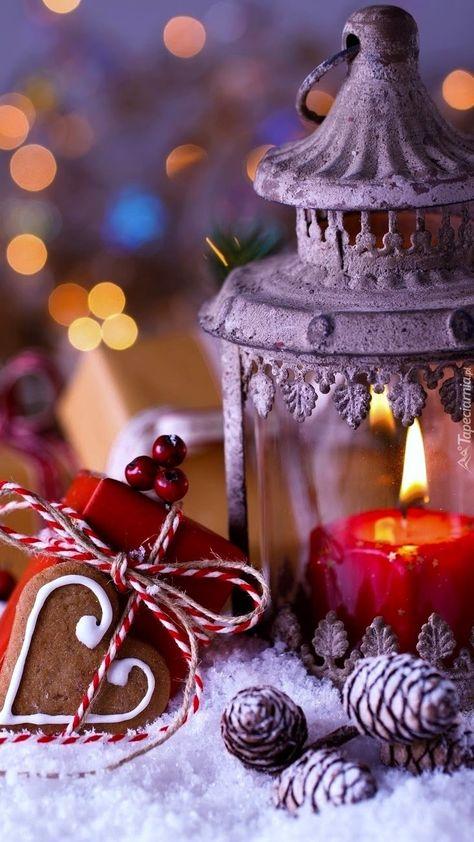 Świąteczne dekoracje - Tapeta na telefon