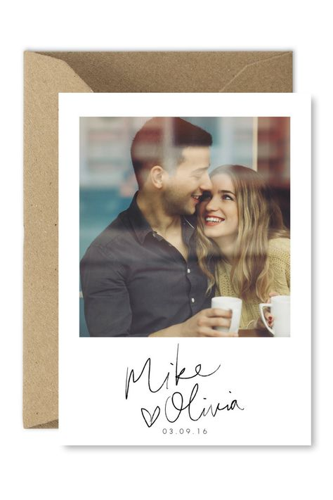Save the date photo card | Wedding announcement | DIY wedding ideas | Hand lettering | Brush calligraphy