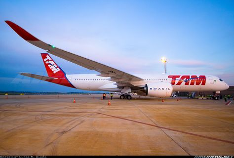 The first Airbus A350XWB for TAM Airlines and the first of the Americas.