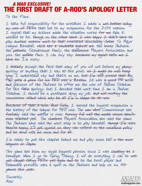Pin by Jerry Ski on Mad Magazine Pinterest Mad magazine - apology letter to family