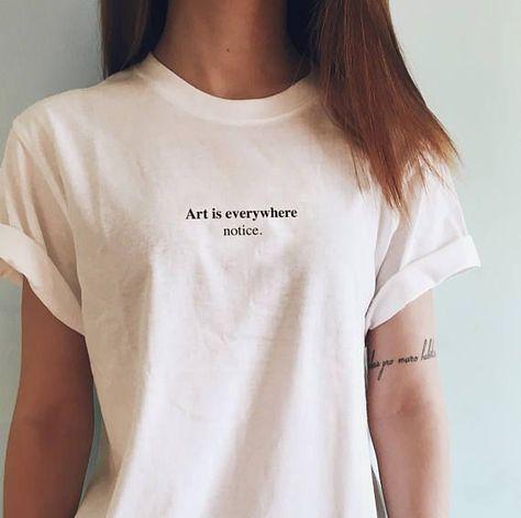 Art is everywhere you notice shirt art t-shirt you notice merch notice you ...