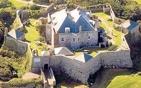 "Star Castle is a fortress on St Mary's, Isles of Scilly, built in 1593 by Robert Adams, Surveyor of the Royal Works (d.1595) and Francis Godolphin, Captain of the Scilly Isles, during the ""Spanish invasion scare."""