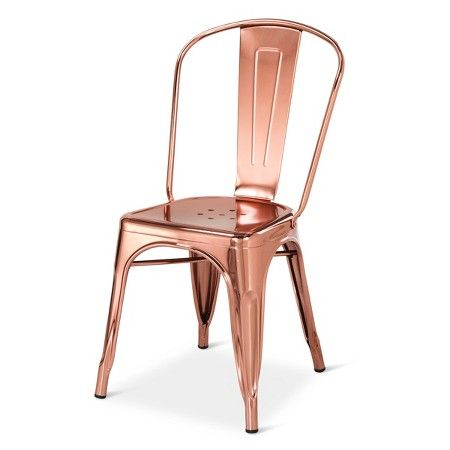Carlisle Couture High Back Metal Dining Chair Rose Gold Target