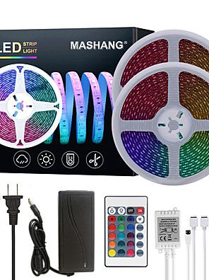 Led Strip Light 2 5m 10m 32 8ft 2835 Rgb 600leds 8mm Strips Lighting Flexible Color Changing With 44 Key Ir Remote Ideal For Home Kitchen Christmas Tv Back Lig In 2020 Strip Lighting