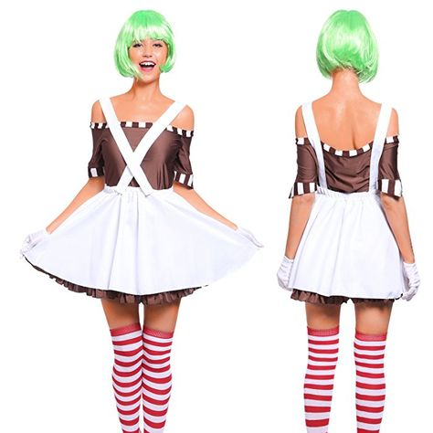 CHOCOLATE FACTORY WORKER OOMPA LUMPA WIG Adult Mens Fancy Dress Costume