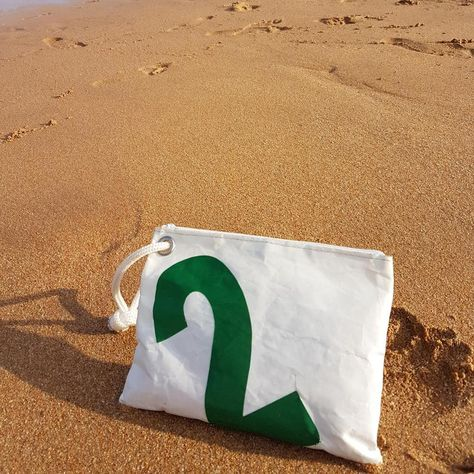 Sailors Wallet Bag, Recycled Nautical Purse, Personalized Sail Bag, Sailcloth Bag, Upcycled Sailbag, Monogrammed Bag, Toiletry Bag, Purse