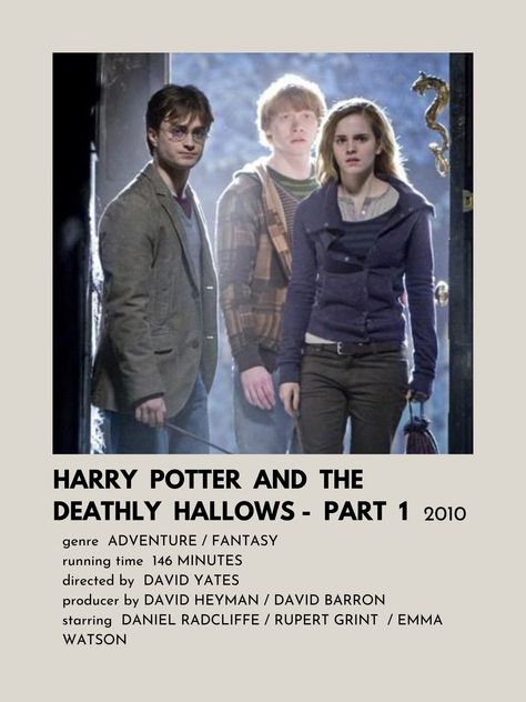 Poster de Harry Potter And The Deathly Hallows - Part 1