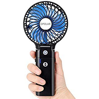 Opolar Portable Battery Operated Handheld Personal Desk Fan With 5 20 Hours Working Time 5200ma Power Bank 3 Setting S Handheld Usb Rechargeable Personal Fan
