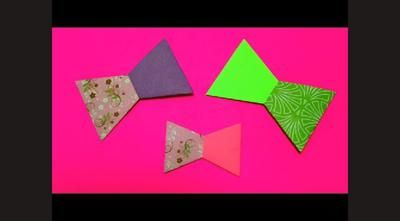 Cara Membuat Pita Dasi Kupu Kupu Dari Kertas Origami Kerajinan