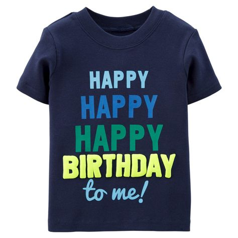 Just One YouTMMade By CartersR Toddler Boys Happy Birthday Tee
