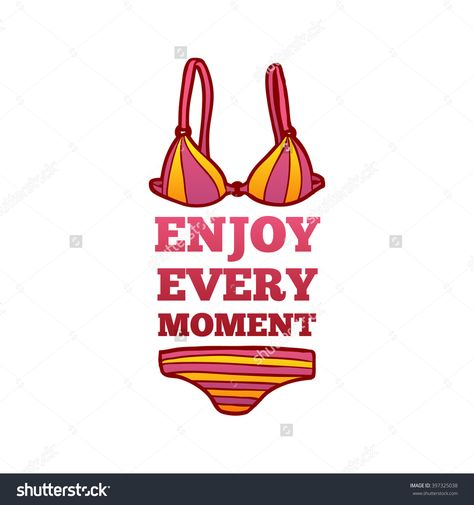 summer logo a female swimsuit in a cartoon style clipart
