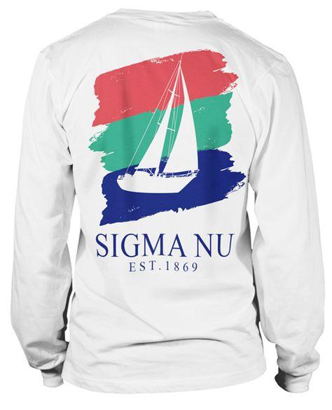 Sigma Nu Nautical T-shirt   Sigma Nu Rush T-shirt   Fraternity Rush Tshirt   Greek Life Greek T-shirt