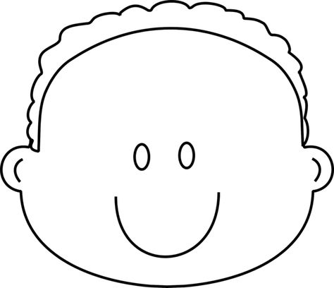 Happy Boy Face Coloring Page Greatest Book