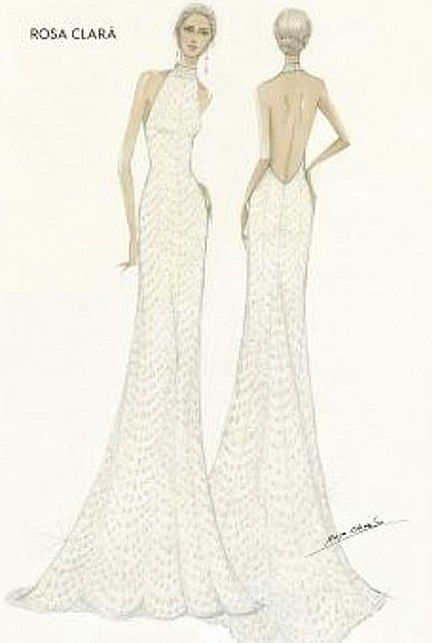 Designer Reception Dress Worn By Mery Perello For Her Wedding To Tennis Ace Rafael Nadal This Weekend Wedding Dress Sketches Reception Dress Celebrity Weddings