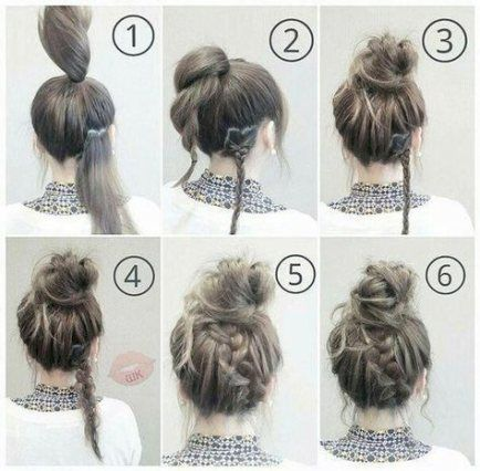 55 Ideas For Hairstyles For Medium Length Hair Updo Tutorials Messy Buns Medium Hair Styles Easy Hairstyles Long Hair Styles
