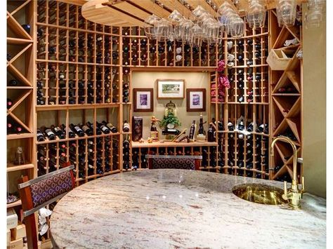 This Wine Room Is Fantastic The Hanging Wine Glasses Are The