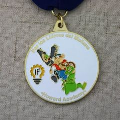 This custom soft enamel medal is for the excellent students