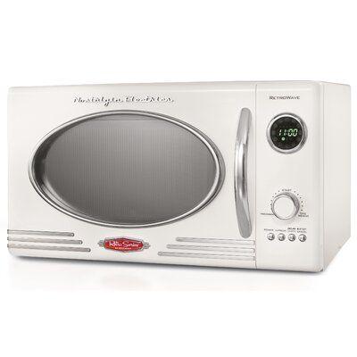 Nostalgia Retro 15 0 9 Cu Ft Countertop Microwave Finish White In 2020 Countertop Microwave Countertop Microwave Oven Microwave Oven