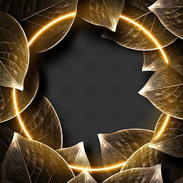 ورقة ذهبية قسط الحدود ذهبي المتقدمة ورقة الشجر Png وملف Psd للتحميل مجانا Leaf Border Abstract Artwork Abstract