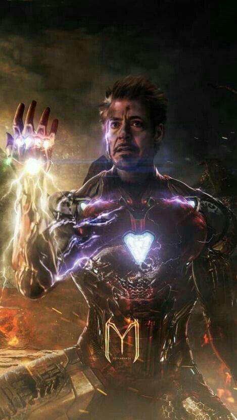 Iron Man Hand All Stones Avanger End Game Scean Iron Man