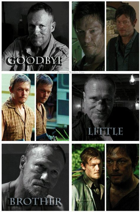 Goodbye little brother. Merle and Daryl Dixon