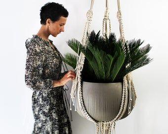 Stella  Macrame Plant Hanging  Plant Lover  Boho Gift   Boho Decor  Indoor Houseplant Holder