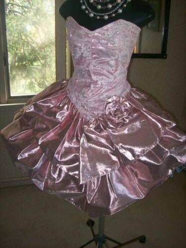 fabulous LACE   PARTY Prom DRESS vintage 1980s Uk size 1618