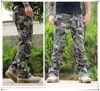 Lutratocro Mens Casual Loose Trousers Sports Multi Pockets Jogger Cargo Pant