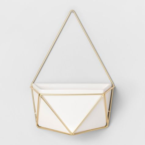 Wishing for Succulent Wall Geometric Hanging White/Gold - Project 62